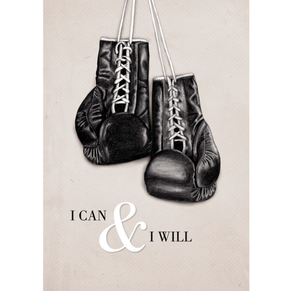 Premium Poster I can & I will mit Boxhandschuhen